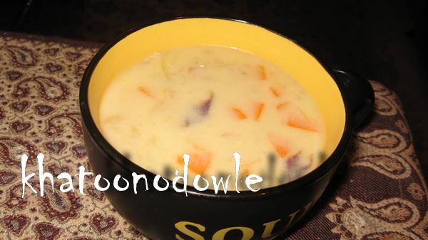 سوپ کلم و هویج